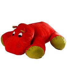 Soft Buddies Floppy Hippo Soft Toy - Red