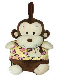 Soft Buddies Monkey With Blanket Brown - Height 5.79 Inch