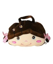 Soft Buddies Doll With Plush Blanket Brown - Height 7.02 Inch