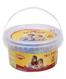 Mitashi Skykidz Sky Doh With 12 Color Play Dough - 180 gm