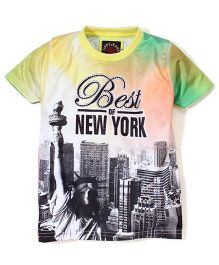 Tippy Half Sleeves T-Shirt - New York Print