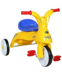 Fab N Funky Baby Tricycle With Wide Wheels - Yellow and Blue