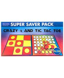 Zapak Super Saver Pack Of Crazy 4 And Tic Tac Toe Game