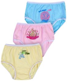 Sublime Panties Pack of 3 - Blue Pink Yellow