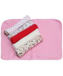 Mee Mee Baby Wash Cloth Napkin Multi Colour - Set of 6