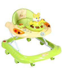 Mee Mee Musical Baby Walker With Play Tray - Green