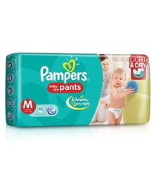 Pampers Pant Style Diapers Light And Dry Medium - 42 Pieces