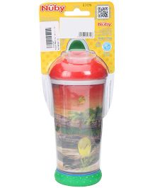Nuby No Spill Insulated Soft Sipper Red - 330 ml