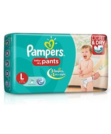 Pampers Pant Style Diapers Light And Dry Large - 36 Pieces