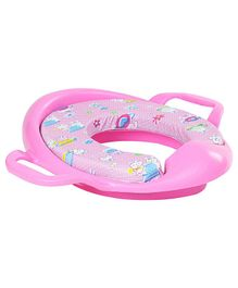 Babyhug Cushioned Potty Training Seat With Handle - Pink