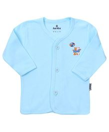 Child World Full Sleeves Vest Aqua Blue - Bear Print