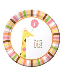 Wanna Party 1 Birthday Lunch Plates  - Set of 8