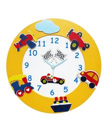 Kidoz Transport Premium Clock - Multi Color