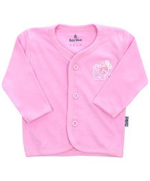 Child World Full Sleeves Vest Cat Print - Pink