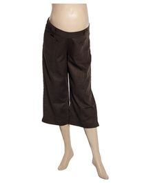 Uzazi Low Waist Maternity Capri - Brown