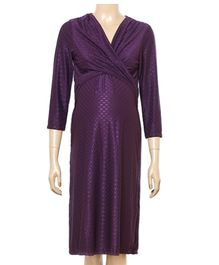 Uzazi Maternity Knot Style Evening Wear - Violet