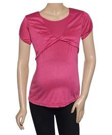 Uzazi Nursing Top Short Sleeves - Pink
