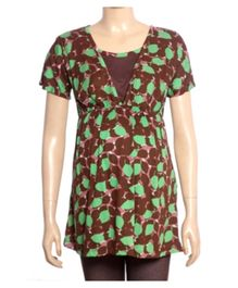 Uzazi Nursing Top Short Sleeves - Brown