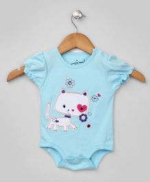 Baby Blue Kitty Applique Onesie