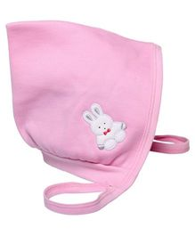 Child World Large Baby Cap Teddy Print - Pink