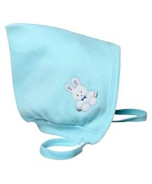Child World Small Baby Cap Teddy Print - Aqua Blue