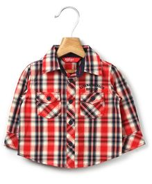 Beebay Full Sleeves Shirt With Check Print - Red