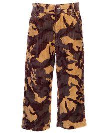 Army Print Pants - Green & Brown