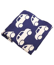 Pluchi Cotton Knitted Baby Blanket Cool Cars