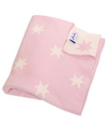 Pluchi Cotton Knitted Baby Blanket  Twinkle Stars