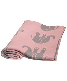 Pluchi Cotton Knitted Kids Blanket Indian Elephants