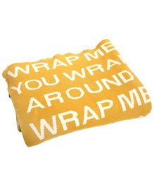 Pluchi Cotton Knitted Teen Blankets  Wrap Me Around You - Yellow