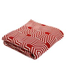 Pluchi Cotton Knitted Throw Blanket Graham