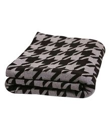 Pluchi Cotton Knitted Throw Blanket Houndstooth