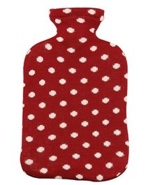 Pluchi Cotton Knitted Hot Water Bottle Cover Dots All the Way