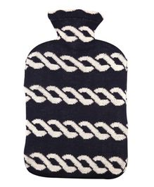 Pluchi Cotton Knitted Hot Water Bottle Cover Nautical Chains
