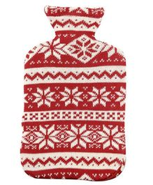 Pluchi Cotton Knitted Hot Water Bottle Cover Flocons