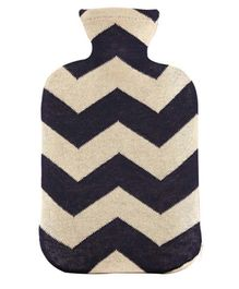 Pluchi Cotton Knitted Hot Water Bottle Cover Chevron