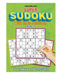Dreamland Publication Super Sudoku With Solutions Book 3 - English