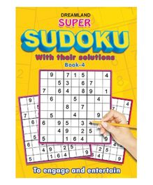 Dreamland Publication Super Sudoku With Solutions Book 4 - English