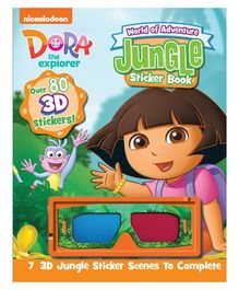 Parragon Dora 3D Sticker Book - English