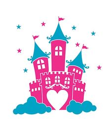 Chipakk Kids Castle Decal Medium - Pink And Blue