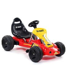 Fab N Funky Go Kart Peddle Car - Red And Black