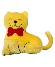 Soft Buddies Cushion In Cat Shape - Yellow And Red