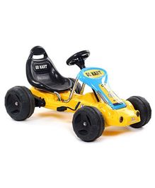 Fab N Funky Go Kart Peddle Car - Yellow And Black
