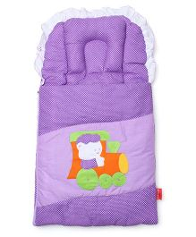 Sapphire Carry Nest Cum Sleeping Bag With Inbuilt Pillow - Locomotive Theme