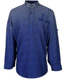 Blazo Kurta Style Shirt Full Sleeves - Mandarin Collar