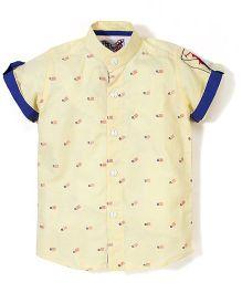 New York Polo Academy Half Sleeve Shirt - Flag Print