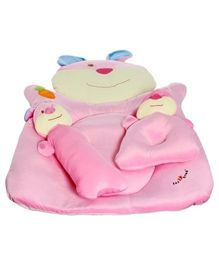 1st Step Bear Shape Baby Mattress Bed Set - Pink