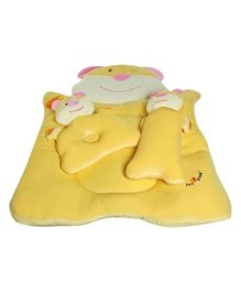 1st Step Bear Shape Baby Mattress Bed Set - Yellow