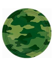 Wanna Party Camouflage Dessert Plates - Set of 8